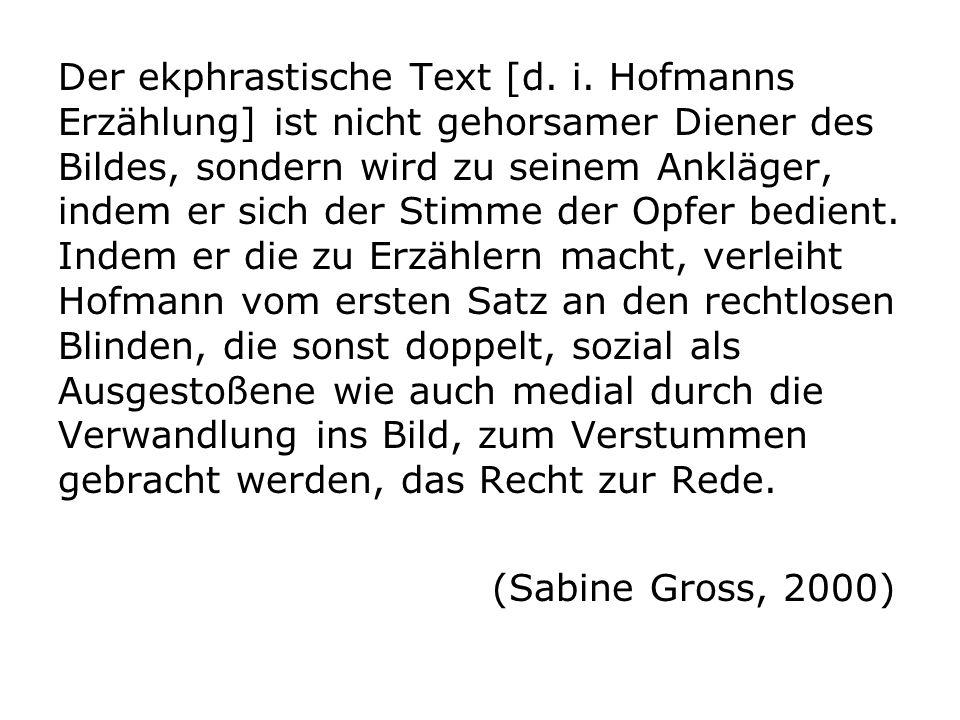 Der ekphrastische Text [d. i